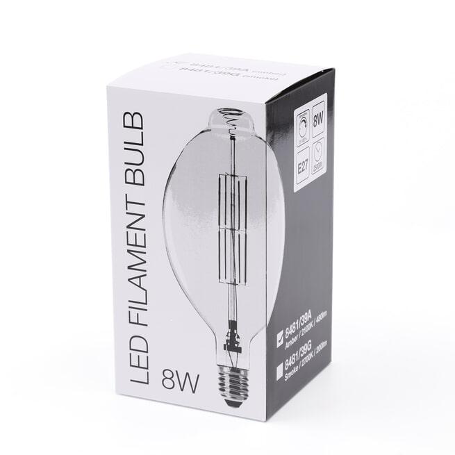Kooldraadlamp 'Lain' E27 LED 8W, kleur Amber, dimbaar