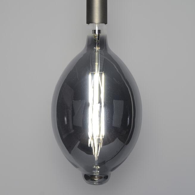 Kooldraadlamp 'Lain' E27 LED 8W, kleur Smoke Grey, dimbaar