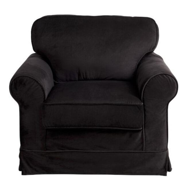 J-Line Fauteuil 'Benoni' kleur Zwart