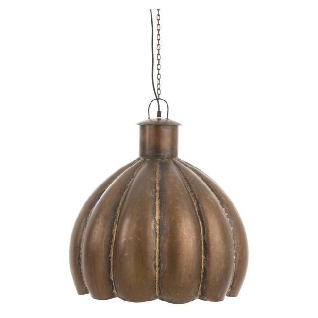 J-Line Hanglamp 'Vladimir' kleur Bruin, Ø50cm