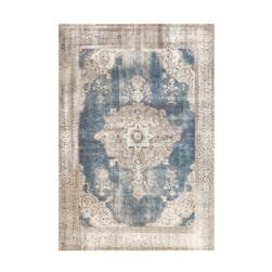 Kayoom Vloerkleed 'Vintage 8400' kleur crème / blauw
