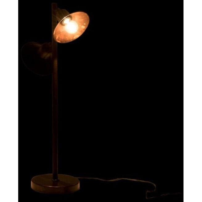 J-Line Vloerlamp 'Jeannetta' 2-Lamps, kleur Bruin