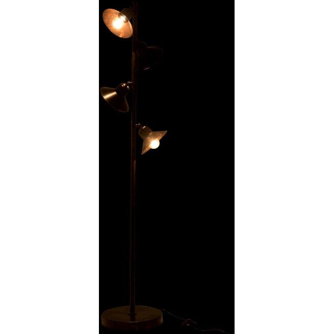 J-Line Vloerlamp 'Jeannetta' 4-Lamps, kleur Bruin