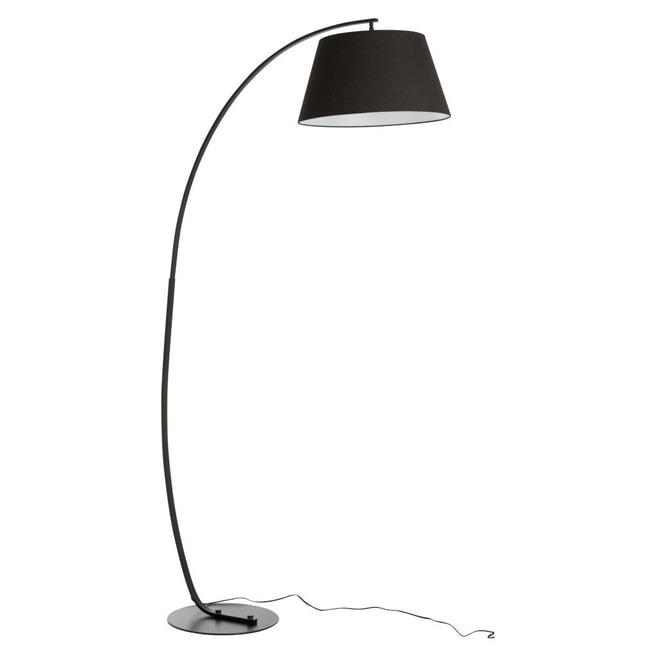J-Line Vloerlamp 'Leopoldine' kleur Zwart
