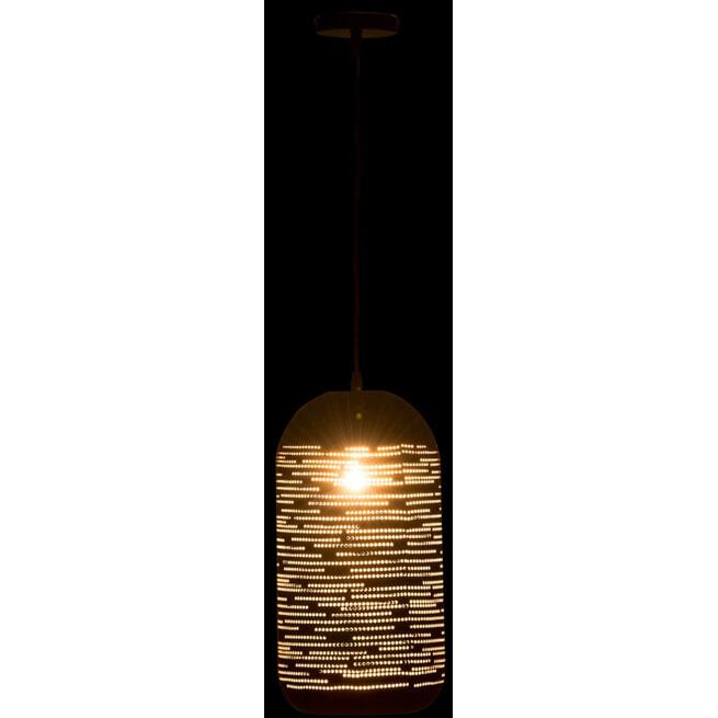 J-Line Hanglamp 'Bernardine' kleur Zwart / Goud, Ø20cm