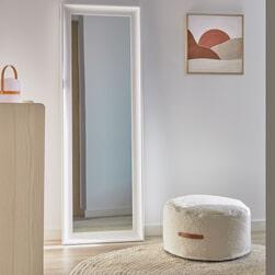 Kave Home Poef 'Adara', 50cm, kleur Wit
