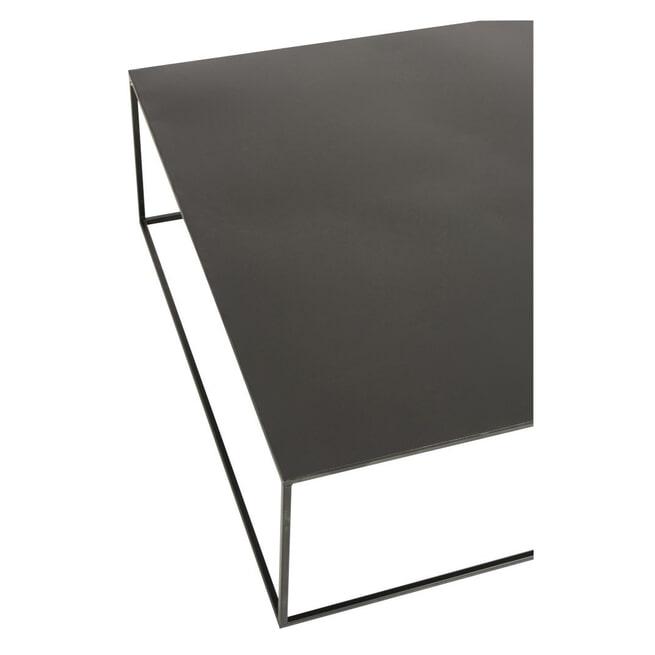 J-Line Vierkante Salontafel 'Gilbertus' kleur Zwart, 80 x 80 cm