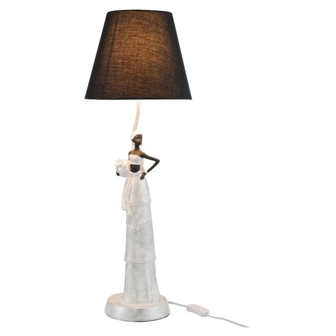 J-Line Vloerlamp 'Sigfried' Vrouw, kleur Wit / Zilver
