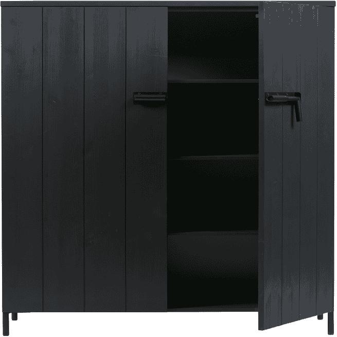 WOOOD Opbergkast 'Bruut' kleur Zwart