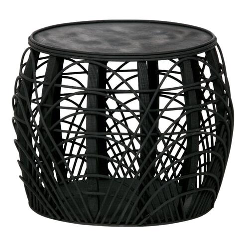 WOOOD Bijzettafel 'Marit' 49cm, kleur Zwart