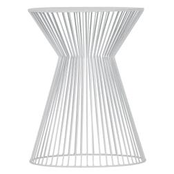 WOOOD Bijzettafel 'Suus' 35cm, kleur Wit
