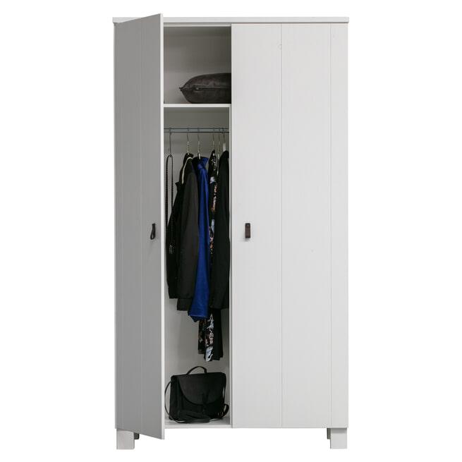 WOOOD Kledingkast 'Ties' 2 deuren, kleur Wit
