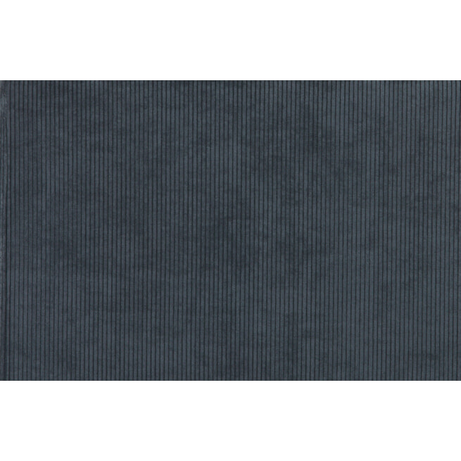 WOOOD Fauteuil 'Micha' Ribstof, kleur Staalblauw