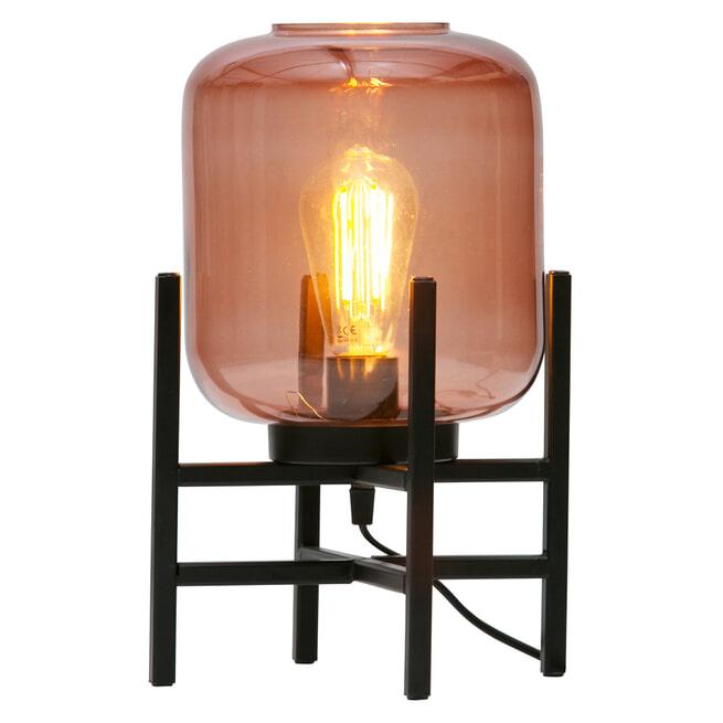 WOOOD Tafellamp 'Abel' kleur Zwart