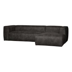 WOOOD Loungebank 'Bean' Rechts, kleur Zwart