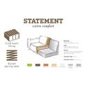 BePureHome Loungebank 'Statement' Velvet, kleur geel