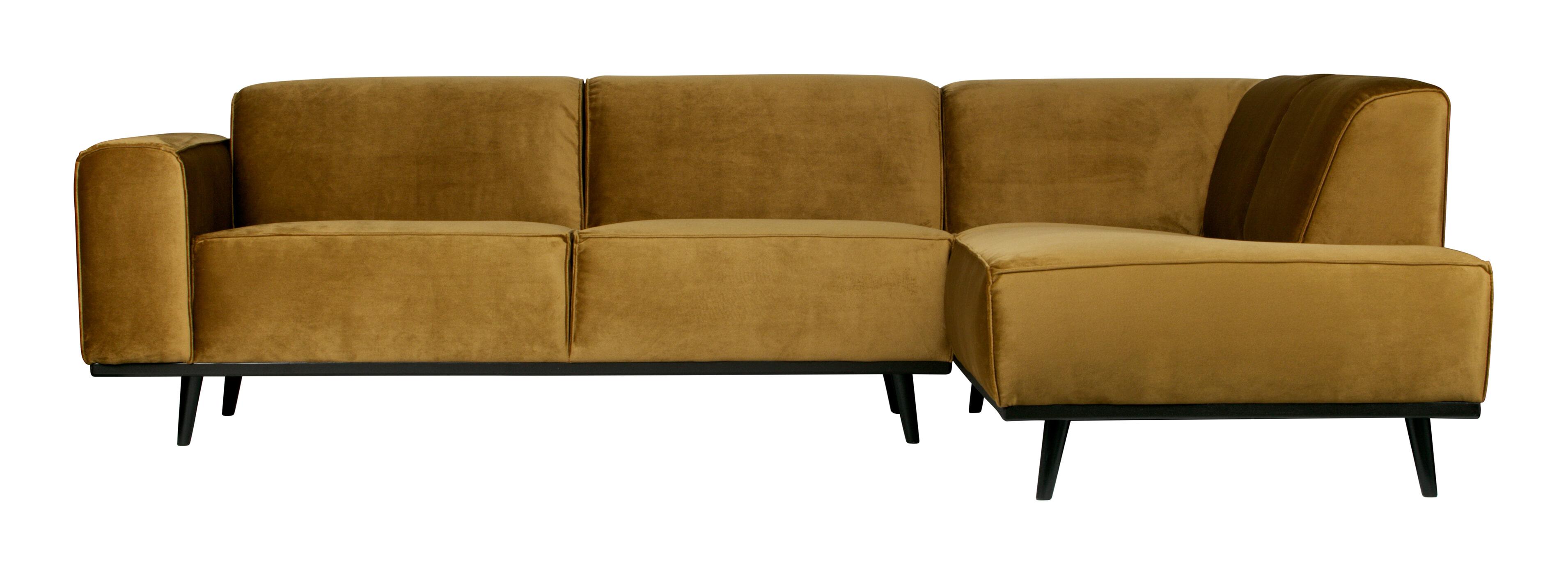 BePureHome Loungebank 'Statement' Rechts, kleur Honing Geel