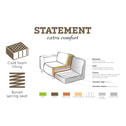 BePureHome Loungebank 'Statement' Links, kleur Elephant Skin