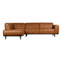 BePureHome Loungebank 'Statement' Links, kleur Cognac