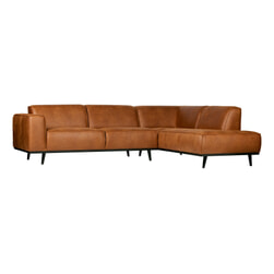 BePureHome Loungebank 'Statement' Rechts, kleur Cognac