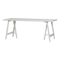 vtwonen Eettafel 'Panel' 220 x 80cm, kleur Wit