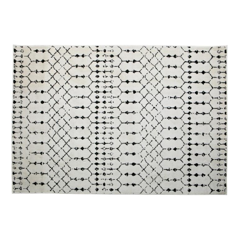 WOOOD Vloerkleed 'Sansa' 170 x 240cm, kleur Wit