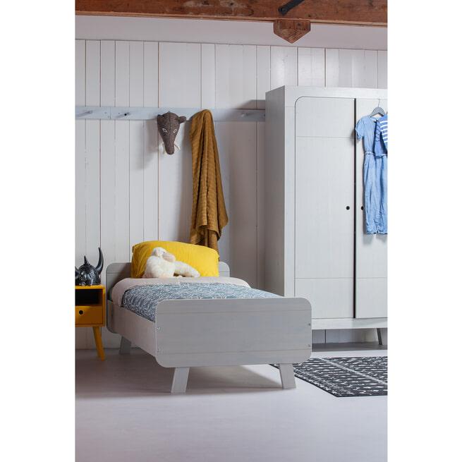 WOOOD Kledingkast 'Sammie', kleur Warm Grey