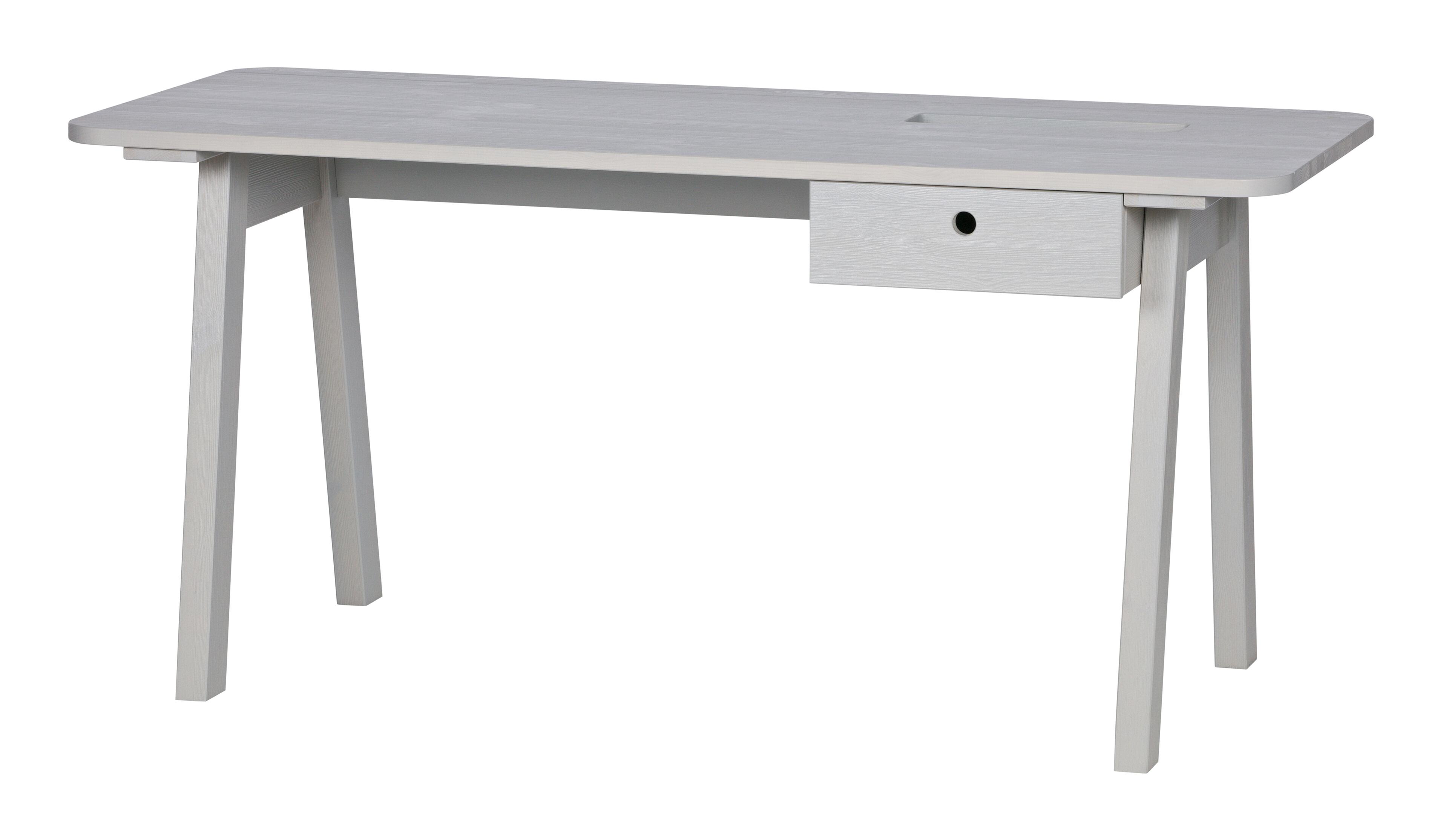 WOOOD Bureau 'Sammie' kleur Warm Grey Tafels | Bureaus vergelijken doe je het voordeligst hier bij Meubelpartner