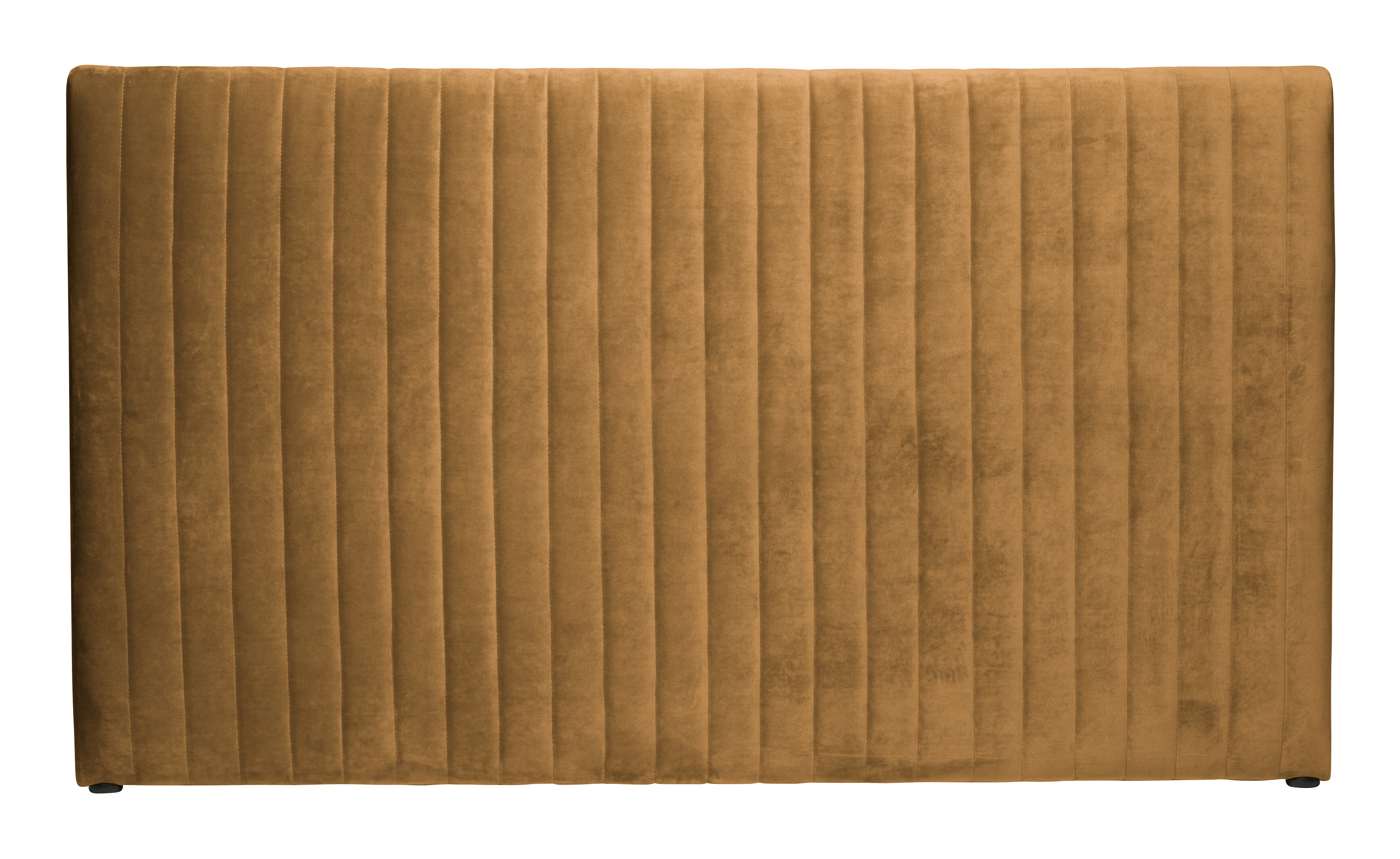 BePureHome Hoofdbord Snooze Velvet 177cm, kleur honinggeel