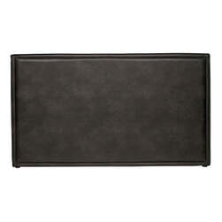 BePureHome Hoofdbord 'Snooze' Eco-leder, kleur zwart