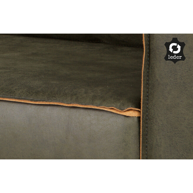 BePureHome Loungebank 'Rodeo' Rechts, kleur Army green