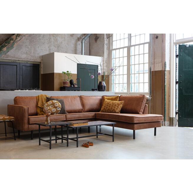 BePureHome Loungebank 'Rodeo' Rechts, kleur Cognac