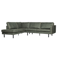 BePureHome Loungebank 'Rodeo' Links, kleur Army
