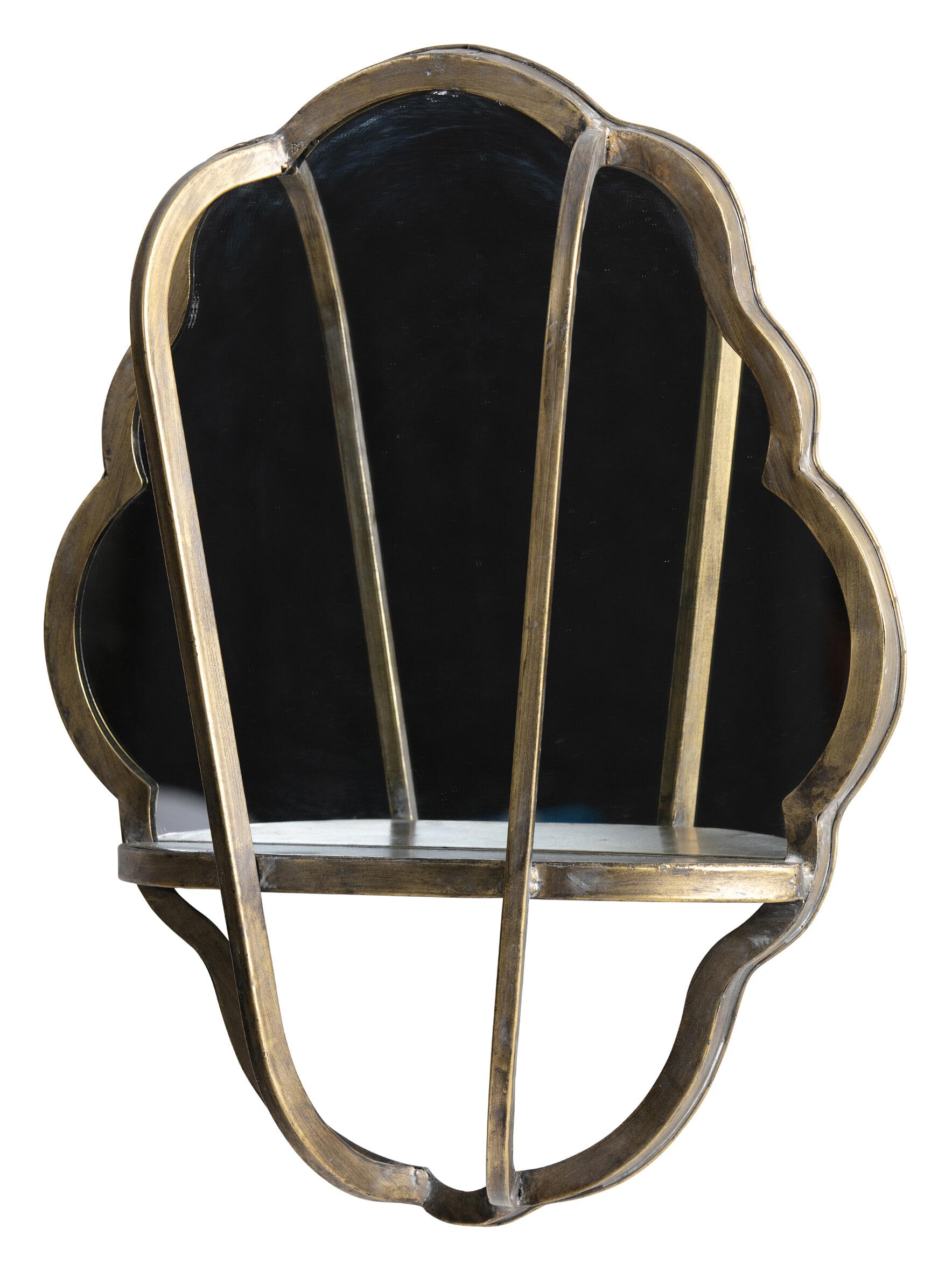 BePureHome Spiegel 'Reflect' 51 x 40cm, kleur Antique Brass