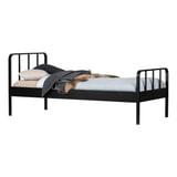 WOOOD Bed 'Mees' 90 x 200cm, kleur Zwart