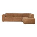 WOOOD Loungebank 'Luna' Rechts, kleur Honing Geel