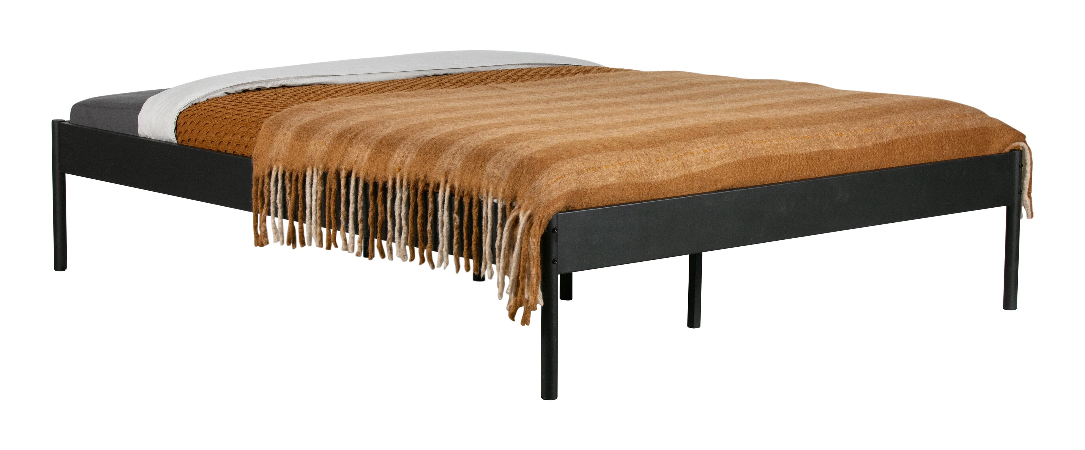 WOOOD Bed 'Pepijn' 180 x 200cm, kleur Zwart