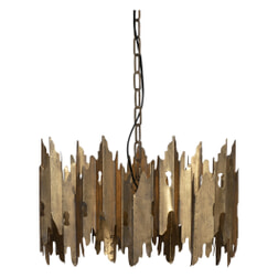 BePureHome Hanglamp 'Crown', kleur Antique Brass
