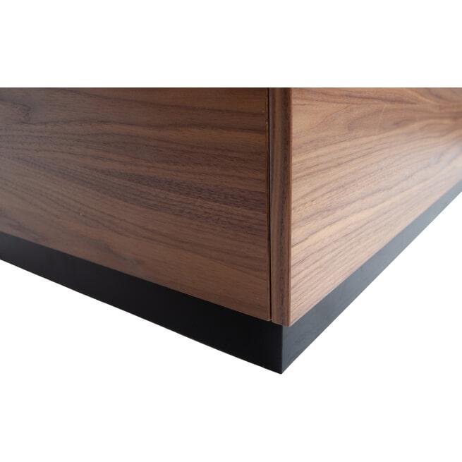 vtwonen Bijzettafel 'Block' 82cm, kleur Walnoot