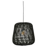 WOOOD Hanglamp 'Moza' Bamboe, kleur Zwart