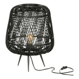 WOOOD Exclusive Tafellamp 'Moza'  kleur Zwart