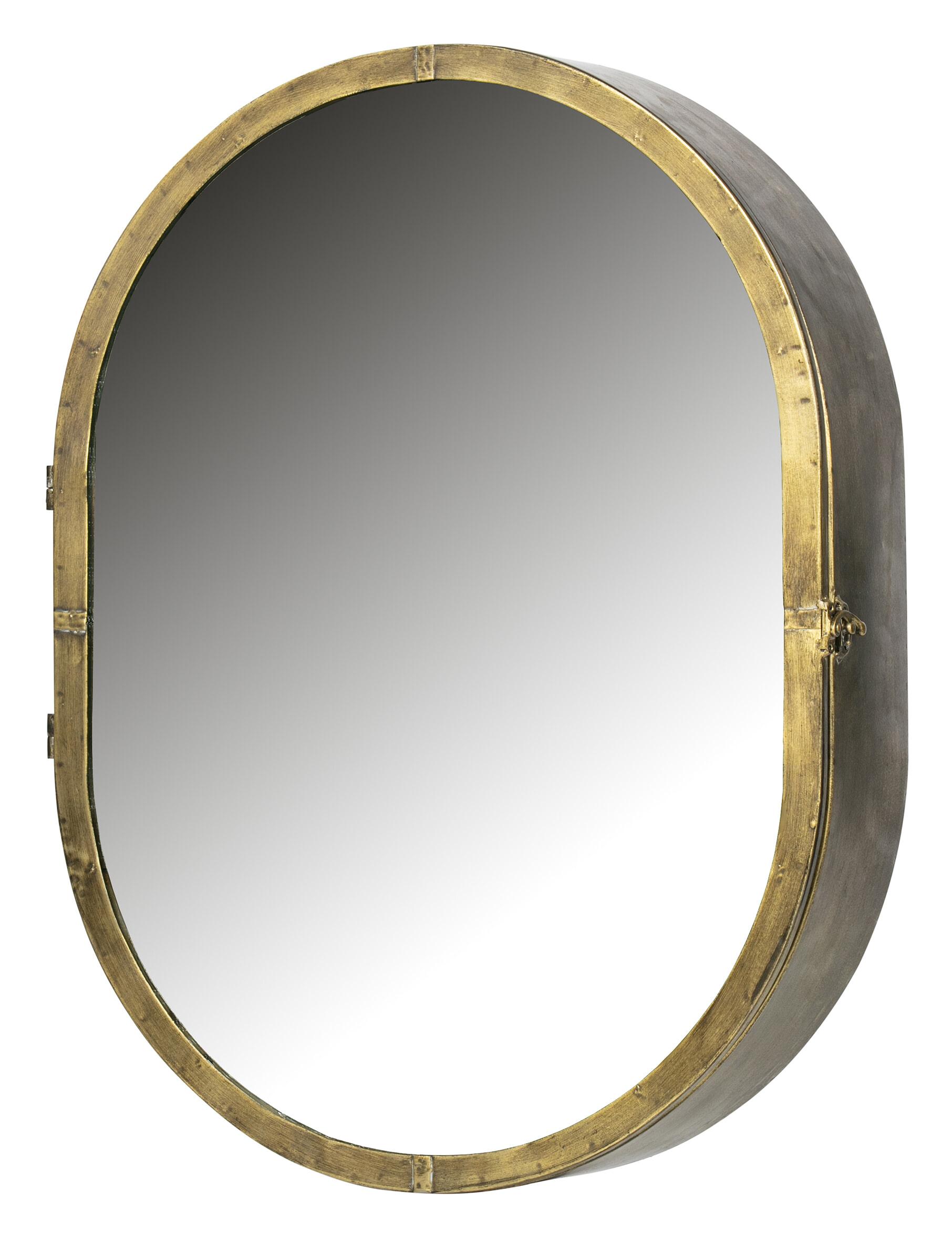 BePureHome Unfold spiegelkast Metaal Antique Brass 60x47x11 online kopen