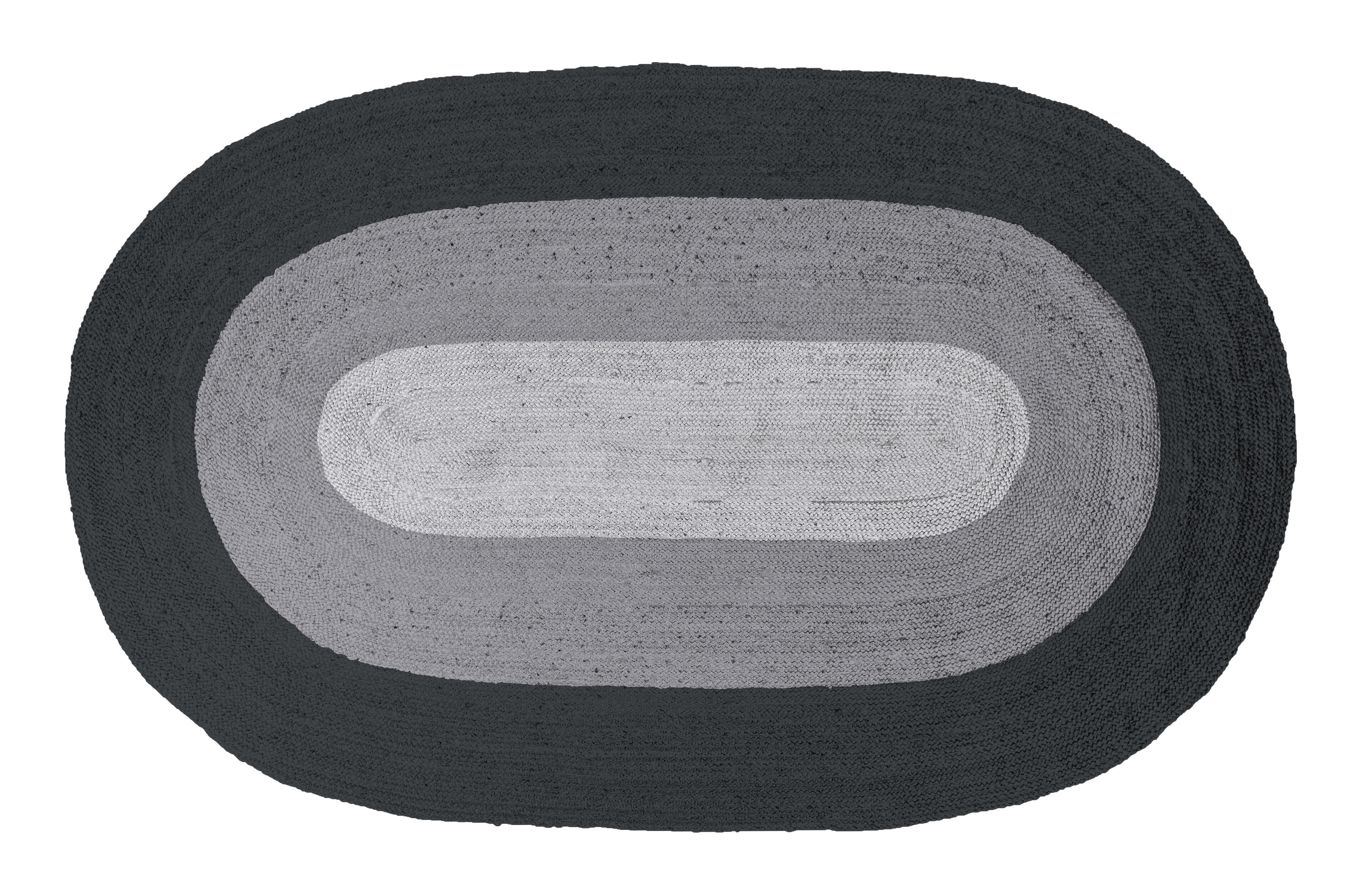 BePureHome Vloerkleed 'Border' 170 x 300cm, kleur Zwart/Grijs
