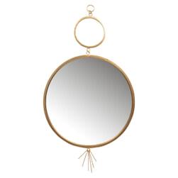 BePureHome Spiegel 'Tail' Ø51cm, kleur Antique Brass