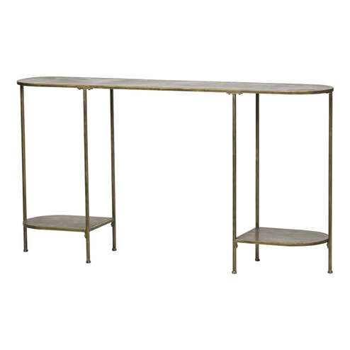 BePureHome Sidetable 'Federal' 145cm, kleur Antique Brass
