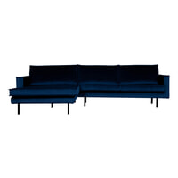 BePureHome Loungebank 'Rodeo' Links, Velvet, kleur Dark Blue
