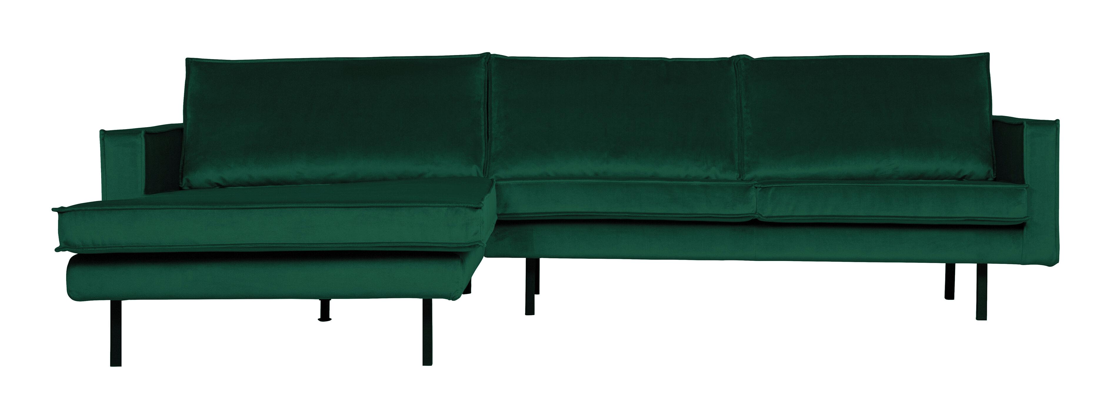 BePureHome Loungebank 'Rodeo' Links, Velvet, kleur Green Forest
