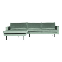 BePureHome Loungebank 'Rodeo' Links, Velvet, kleur Mint