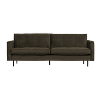 BePureHome Bank 'Rodeo' 2,5-zits, Velvet, kleur Dark Green