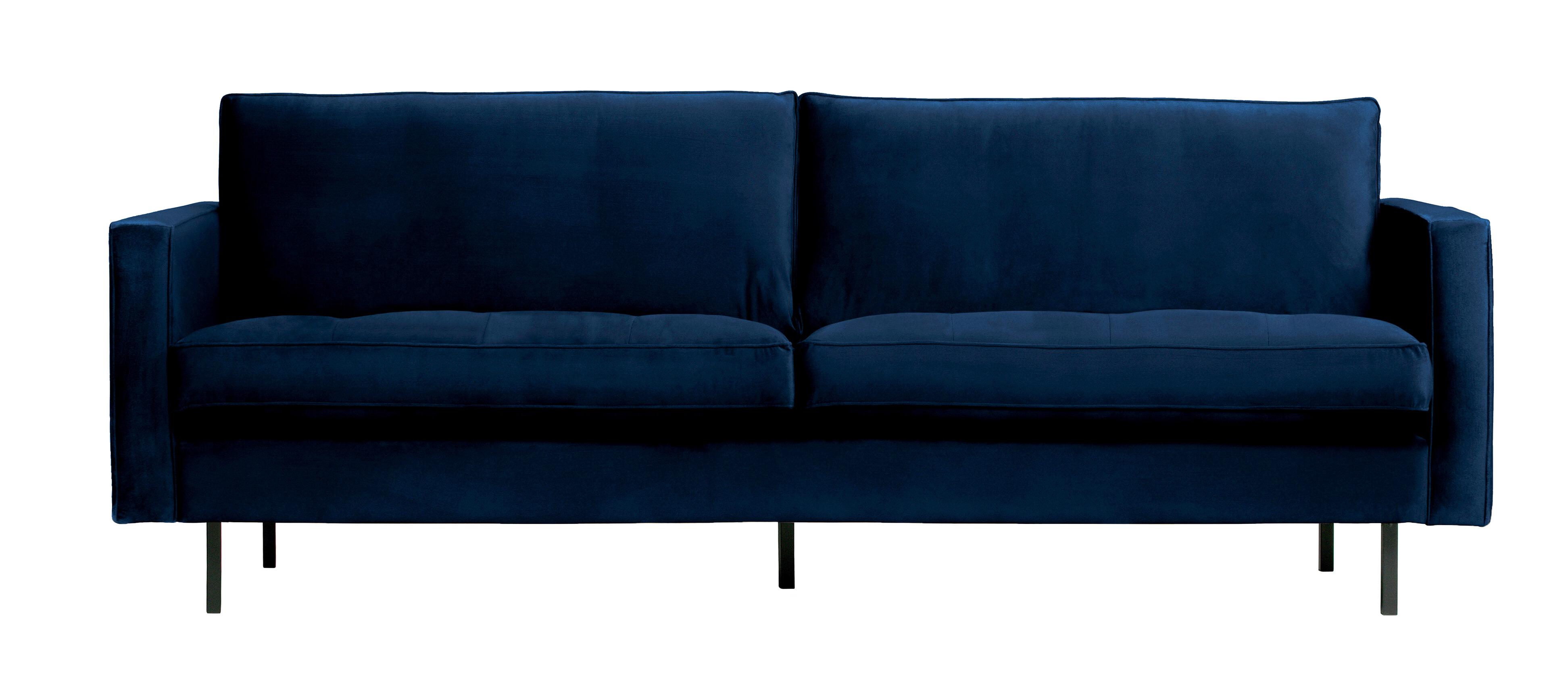 BePureHome Bank 'Rodeo' 2,5-zits, Velvet, kleur Dark Blue